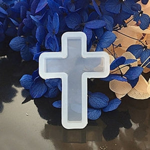 4x Silicone Resin Mold For Jewelry Making Cross Pendant A0089921