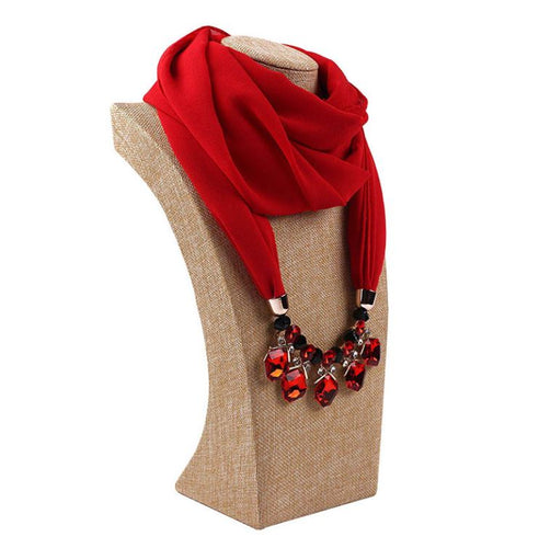 2019 New Arrival Necklace Scarf Beaded Scarf Infinity Hijab WomenJewelry Scarf S06330