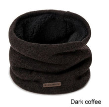 Load image into Gallery viewer, Mens Scarf Double Layer Neck Warmer Winter Scarf Knit Solid Color