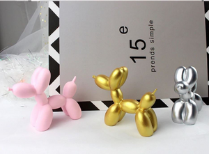 2x Cute Small Balloon dog Resin Crafts Sculpture Gifts Fashion Cake baking Home Decorations