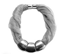Load image into Gallery viewer, 12pcs Extra Large Silver Plated CCB Scarf Rings Charm Pendant Accessories S5345