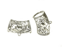 12pcs Floral Scarf Necklace Clips Clasps Chips Bails Scarf Rings Pendant Accessory  S0902