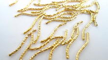 Load image into Gallery viewer, 1.5X20 mm Silver Gold Alloy Curved Tube / Link Wavy Tube Beads 50pcs/bag EZX1130
