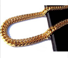Load image into Gallery viewer, Cuban Link Chain Gold Chain For Men Miami Gold Mens Chain 24k  Yellow Gold Filled