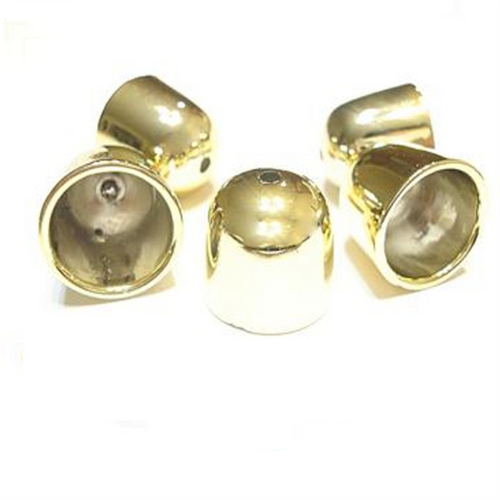 20 Golden Scarf Ring Caps Ends For Decorate At End of Scarves S01808G