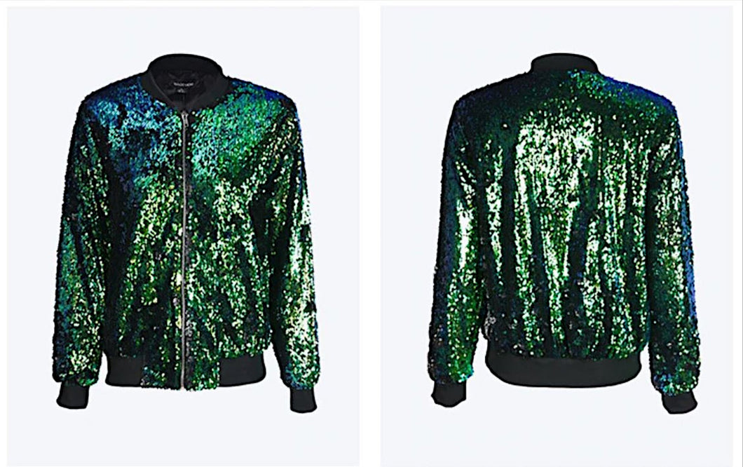 Bomber Jacket Sequin Jacket Sequin Dress Made By Sequin Fabric Sequins Coat For Women