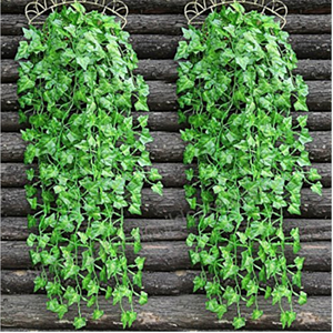 Artificial Ivy Vine Green Tropical Grape Plant Leaves Home Wedding Birthday Party Celebration