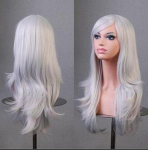 28 inch Wig Grey Wig Long Curly For Women Cosplay Wig halloween costumes