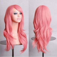 Load image into Gallery viewer, 28 inch Pink Wig Red Wig Purple Wig Grey Wig Cosplay Women Wig