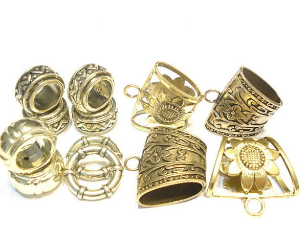 12pcs Scarf Clip Ring Scarf Jewelry Gold Tone Scarf Bails Scarf Rings S0244