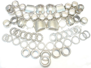 Scarf Jewelry Wholesale Super Package 84pcs Silver Tone S04714