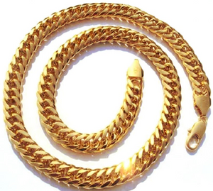 Cuban Link Chain Gold Chain For Men Miami Gold Mens Chain 24k  Yellow Gold Filled