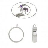 2x Open Back Bezel Pendants For Resin Round A0080699