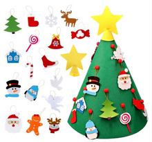 Load image into Gallery viewer, Felt Christmas Tree 3D Felt Ornaments Children For Toddler Playing Christmas Decor