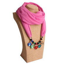 Load image into Gallery viewer, 2019 New Arrival Necklace Scarf Beaded Scarf Infinity Hijab WomenJewelry Scarf S06330