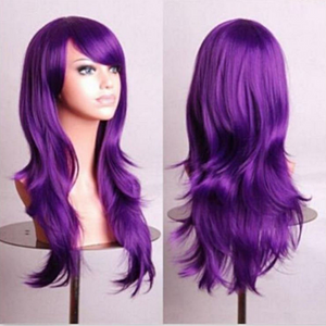 28 inch Pink Wig Red Wig Purple Wig Grey Wig Cosplay Women Wig