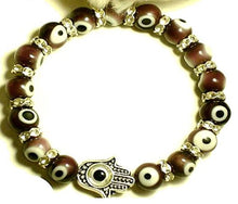 Load image into Gallery viewer, Fashion Jewelry Turkish Murano Evil Eye Bracelet with Blessing Hamsa Hand Stretch