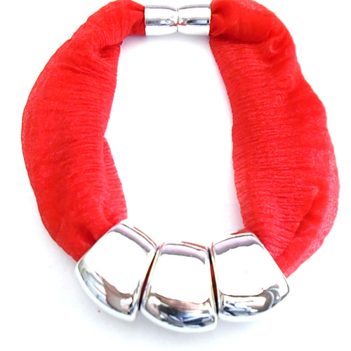 Beaded Scarf Necklace Jewelry Infinity Scarf Magnetic Ends Closure SF09