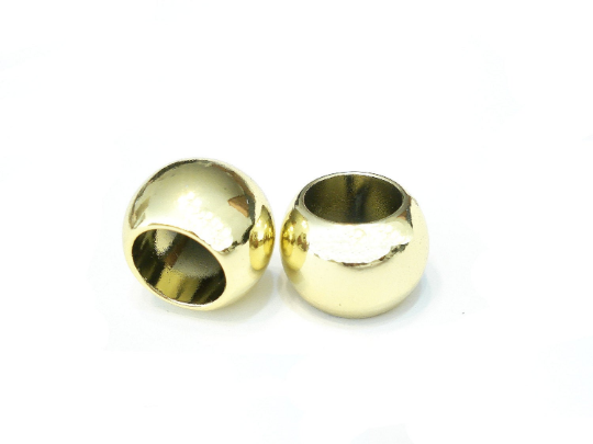 12 Bright Gold Scarf Jewelry Beads Rings Loose Beads Plain Silver S02398