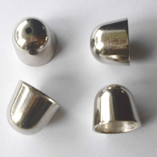 3 Sets Scarf End Caps For Closure Silver Tone With Hole On Top, Opening 13mm S08765
