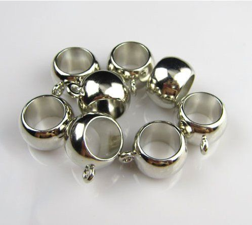 COREBEAD 12 Scarf Ring Bails With Loop Fastener Scarf Jewelry Clips Clasps Silver/Gold Tone