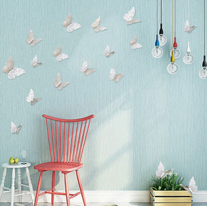 24 pcs Butterfly Stickers Paper Butterfly Wall Decor Gold Silver