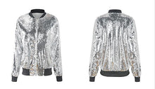 Load image into Gallery viewer, Bomber Jacket Sequin Jacket Sequin Dress Made By Sequin Fabric Sequins Coat For Women