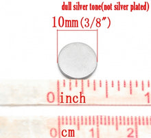 "Load image into Gallery viewer, 10x Silver Jewelry Magnets Round 10x1mm (3/8""x3/64"") Strong Neodymium"