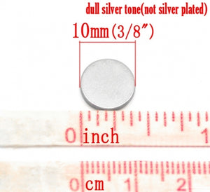 "10x Silver Jewelry Magnets Round 10x1mm (3/8""x3/64"") Strong Neodymium"