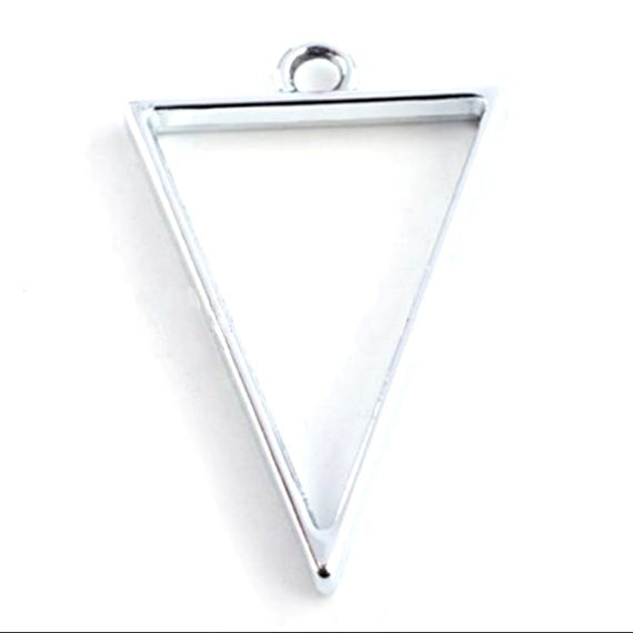 10pcs Triangle Open Back Bezel Cups, For Resin P032