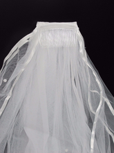 Load image into Gallery viewer, White/ Ivory Pearl Wedding Bridal Veil With Comb W655