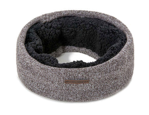 Mens Scarf Double Layer Neck Warmer Winter Scarf Knit Solid Color