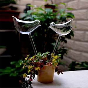 2x Water Feeder Plant Watering Glass Birds Water Pipe Flower Auto-watering Gardening B323