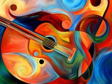 Abstract gitaar (Op voorraad!) - Diamond Painting Planet