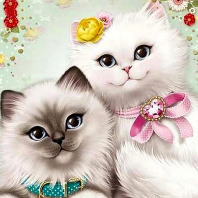 Proefpakket - Witte kittens - Diamond Painting Planet