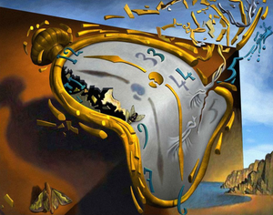 Salvador Dali - Smeltende klok - Diamond Painting Planet