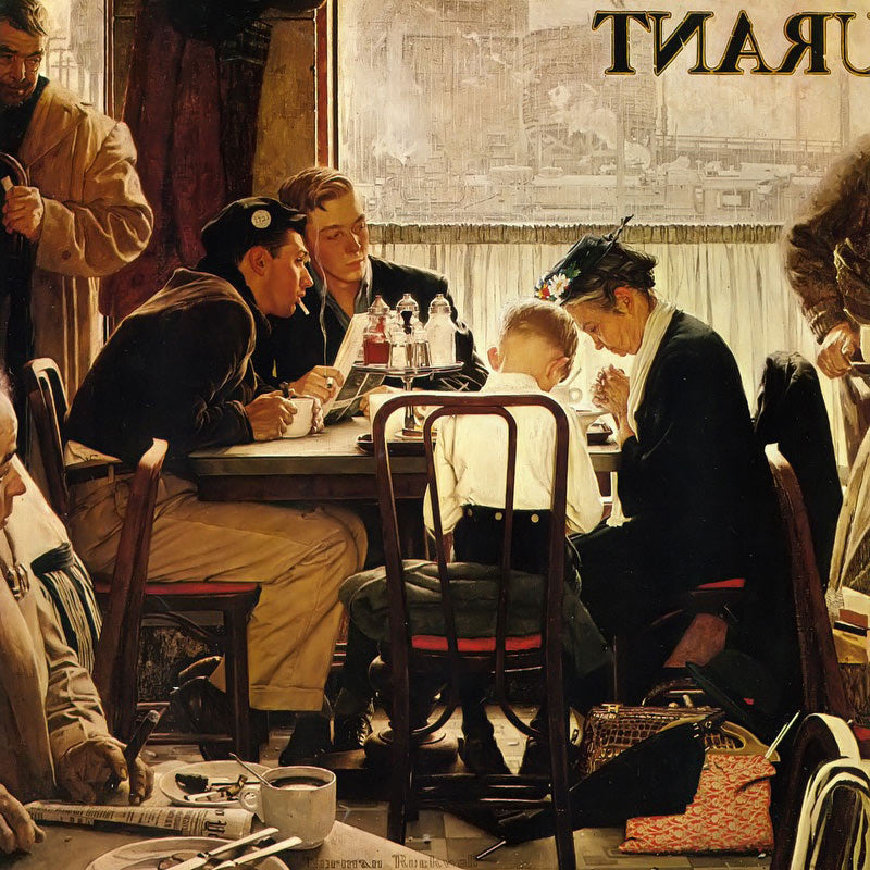 Norman Rockwell - Bidden - Diamond Painting Planet