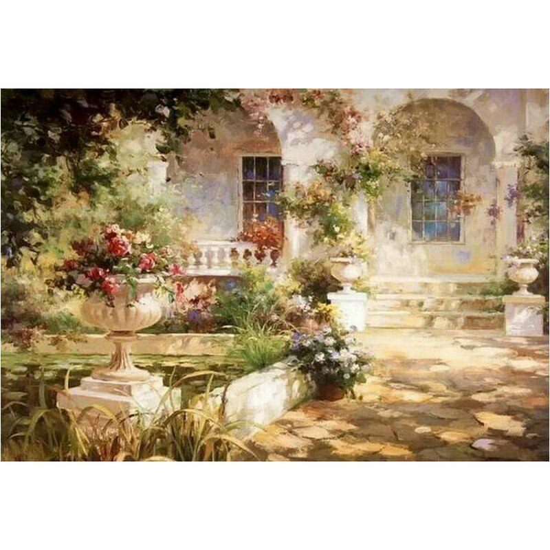 Italiaanse tuin - Diamond Painting Planet