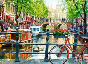 Amsterdamse gracht - Diamond Painting Planet