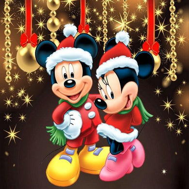 Mickey Mouse kerst - Diamond Painting Planet