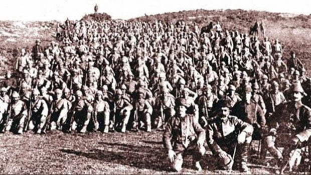 Turkish army after a prayer session