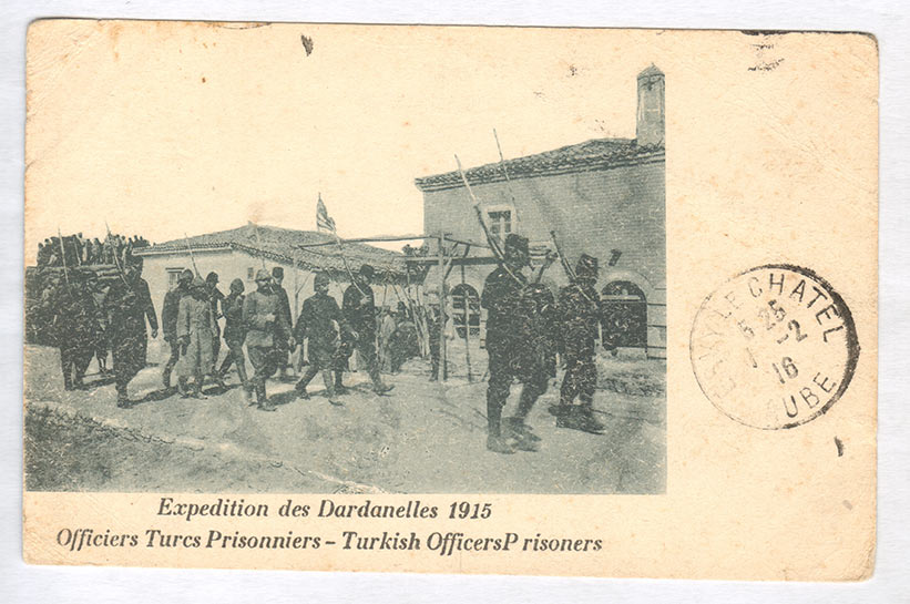 A french post card depicting the Turkish prisoners