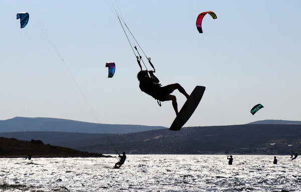 Wind surfing and kitesurfing are popular sports in Alacati