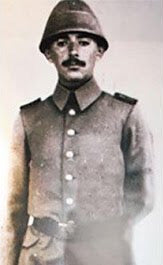 Dressed in his Turkish Officer uniform in Gallipoli - Moshe Sharett was the second Prime Minister of Israel, serving for a little under two years between David Ben-Gurion's two terms