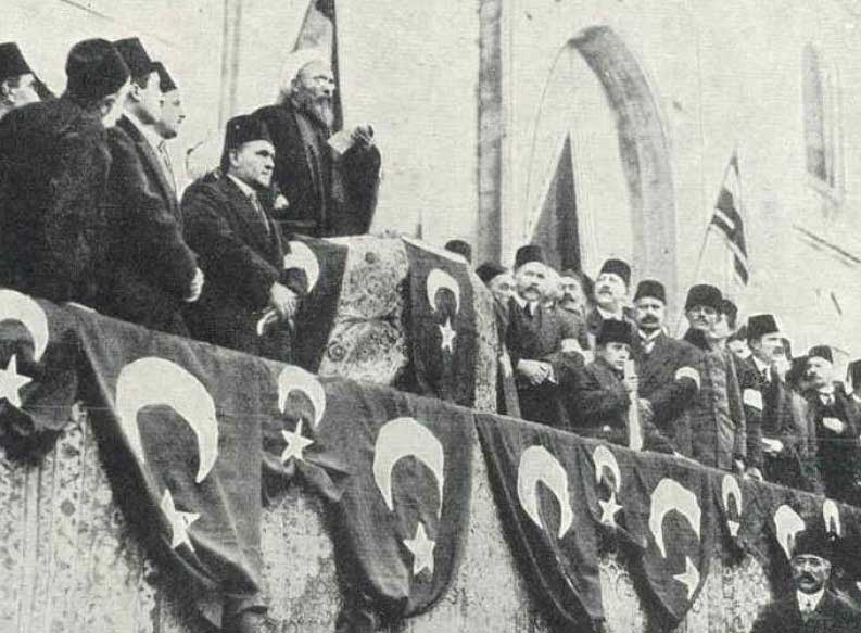 A historical moment in 1914 – Ottoman empire is declaring war against the allies