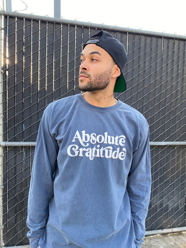 ABSOLUTE GRATITUDE LONG SLEEVES TSHIRT - VINTAGE SLATE