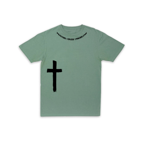 PRAYERS OVER PROBLEMS TSHIRT - SAGE/3M