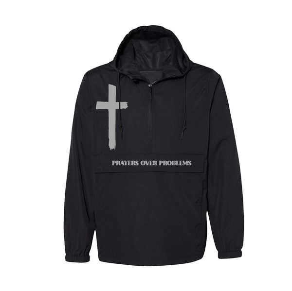 PRAYERS OVER PROBLEMS ANORAK - 3M REFLECTIVE/BLACK