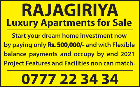 LUXURY APARTMENTS FOR SALE IN RAJAGIRIYA