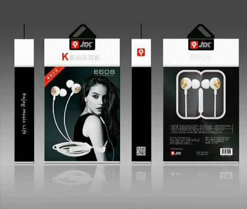 JTX E608 High Quality Wired Earphone- https://nextad.online/ next ad online Sri Lanka's Number One Website for Buy Sell Rent Electronics, Cars, Fashion, Property, Jobs & More